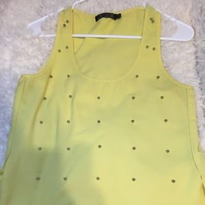 Love culture | yellow shirt with silver beads | S